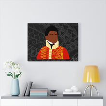 Load image into Gallery viewer, King Kamehameha II Canvas Gallery Wraps (Black)