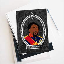 Load image into Gallery viewer, Tribal King Kamehameha V Journal - Ruled Line (Black)