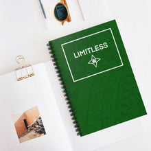 Load image into Gallery viewer, Tribal LIMITLESS Square Spiral Notebook - Ruled Line (Green)