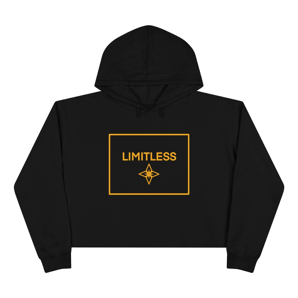 Yellow LIMITLESS Square Cropped Hoodie