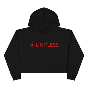Red LIMITLESS Cropped Hoodie