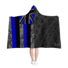 Load image into Gallery viewer, Kanaka Kollection Tribal Flag Hooded Blanket (Royal Blue)