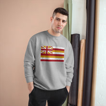 Load image into Gallery viewer, Kanaka Kollection Tribal Flag Champion Sweatshirt (White)