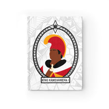 Load image into Gallery viewer, Tribal King Kamehameha I Journal - Ruled Line (White)