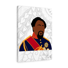 Load image into Gallery viewer, King Kamehameha V Canvas Gallery Wraps (White)