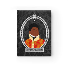 Load image into Gallery viewer, Tribal King Kamehameha II Journal - Ruled Line (Black)