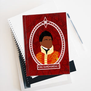Tribal King Kamehameha II Journal - Ruled Line (Red)