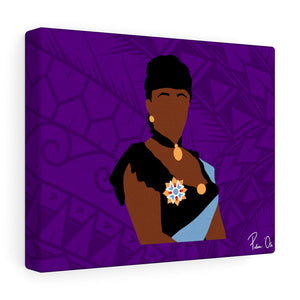 Queen Liliuokalani Canvas Gallery Wraps (Purple)