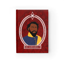 Load image into Gallery viewer, Tribal King Kamehameha IV Journal - Ruled Line (Red)