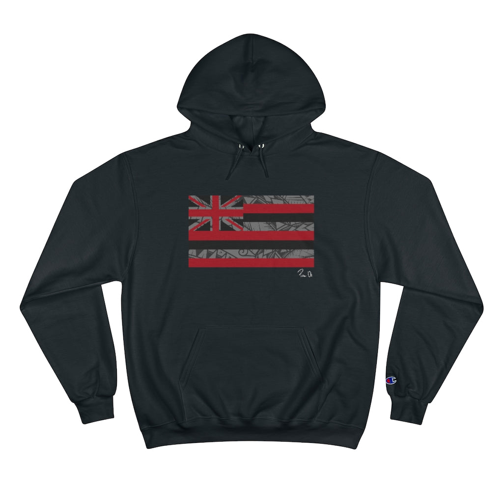 Kanaka Kollection Tribal Flag Champion Hoodie (Gray)