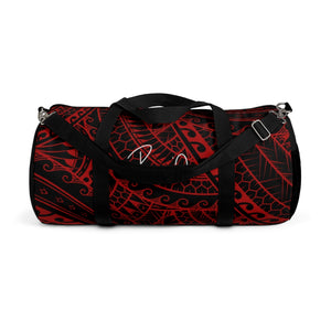 Tribal Script Duffel Bag (Red)