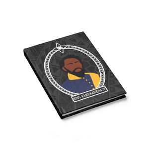 Tribal King Kamehameha IV Journal - Ruled Line (Black)