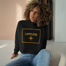 Load image into Gallery viewer, Yellow LIMITLESS Square Cropped Hoodie