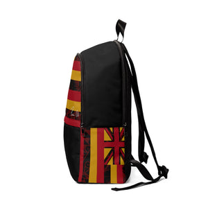 Kanaka Kollection Tribal Flag Unisex Fabric Backpack (Red)