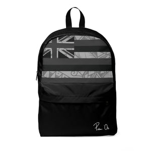 Kanaka Kollection Tribal Flag Unisex Classic Backpack (B&W)
