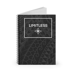 Tribal LIMITLESS Square Spiral Notebook - Ruled Line (Black)