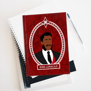 Tribal King Lunalilo Journal - Ruled Line (Red)