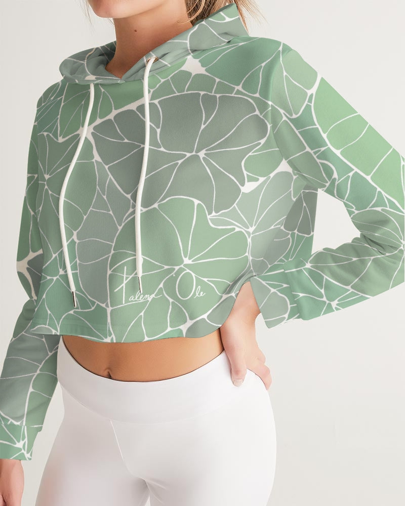 Light Kalo Women's Athletic Cropped Hoodie