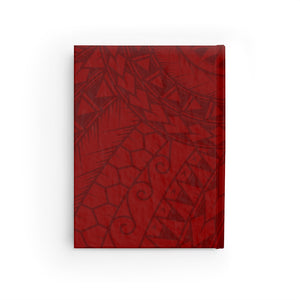 Tribal King Kamehameha IV Journal - Ruled Line (Red)
