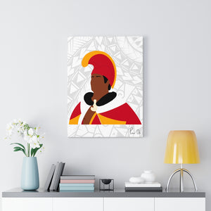 King Kamehameha I Canvas Gallery Wraps (White)
