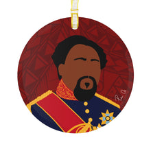 "Load image into Gallery viewer, King Kamehameha V Glass Ornament 3.5"" (Red)"