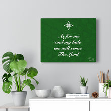 Load image into Gallery viewer, Scripture Canvas Gallery Wraps (Green)