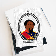 Load image into Gallery viewer, Tribal King Kamehameha V Journal - Ruled Line (White)