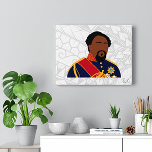 King Kamehameha V Canvas Gallery Wraps (White)
