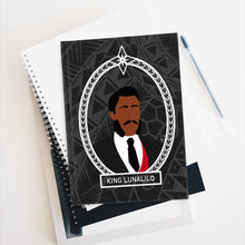 Load image into Gallery viewer, Tribal King Lunalilo Journal - Ruled Line (Black)