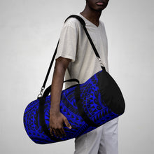 Load image into Gallery viewer, Tribal Script Duffel Bag (Royal Blue)