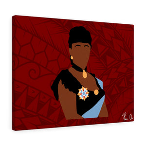 Queen Liliuokalani Canvas Gallery Wraps (Red)