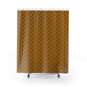 Spear Shower Curtain (Yellow)