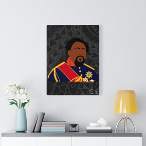 King Kamehameha V Canvas Gallery Wraps (Black)