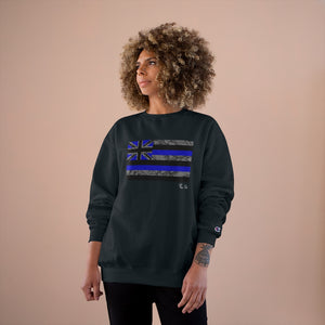 Kanaka Kollection Tribal Flag Champion Sweatshirt (Royal Blue)