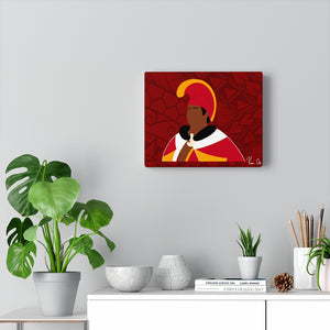 King Kamehameha I Canvas Gallery Wraps (Red)