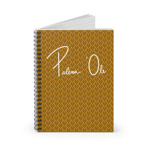 Spear Script Spiral Notebook - Ruled Line