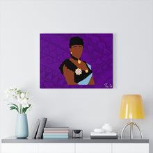Load image into Gallery viewer, Queen Liliuokalani Canvas Gallery Wraps (Purple)