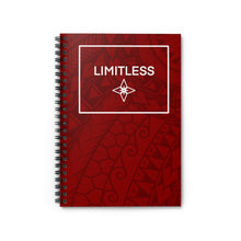 Load image into Gallery viewer, Tribal LIMITLESS Square Spiral Notebook - Ruled Line (Red)