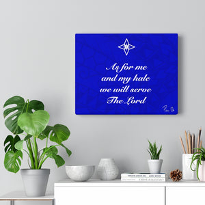 Scripture Canvas Gallery Wraps (Blue)