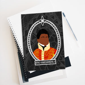 Tribal King Kamehameha II Journal - Ruled Line (Black)