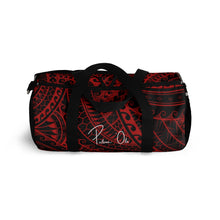 Load image into Gallery viewer, Tribal Script Duffel Bag (Red)
