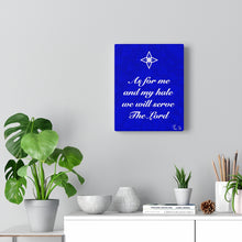Load image into Gallery viewer, Scripture Canvas Gallery Wraps (Blue)