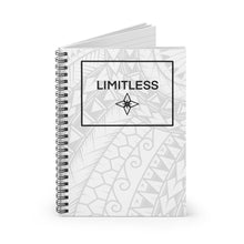 Load image into Gallery viewer, Tribal LIMITLESS Square Spiral Notebook - Ruled Line (White)