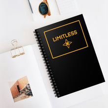 Load image into Gallery viewer, Yellow LIMITLESS Square Spiral Notebook - Ruled Line