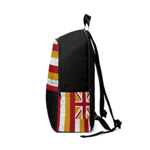 Load image into Gallery viewer, Kanaka Kollection Tribal Flag Unisex Fabric Backpack (White)