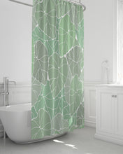 "Load image into Gallery viewer, Light Kalo Shower Curtain 72""x72"""