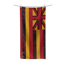 Load image into Gallery viewer, Tribal Flag Polycotton Towel (Red)