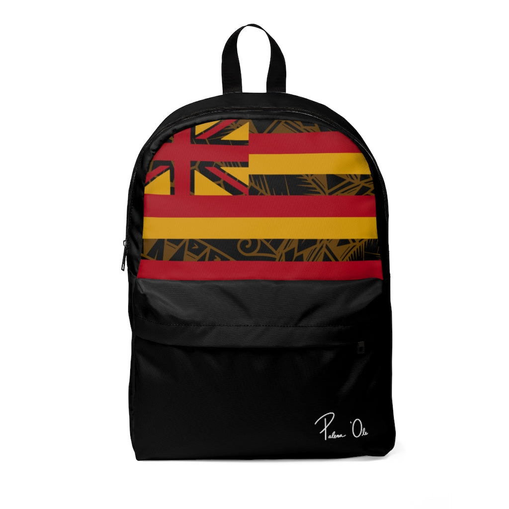 Kanaka Kollection Tribal Flag Unisex Classic Backpack (Yellow)