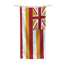 Load image into Gallery viewer, Tribal Flag Polycotton Towel (White)