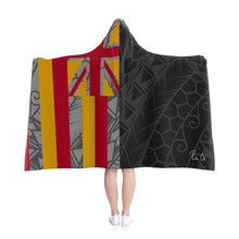Load image into Gallery viewer, Kanaka Kollection Tribal Flag Hooded Blanket (Y/G)